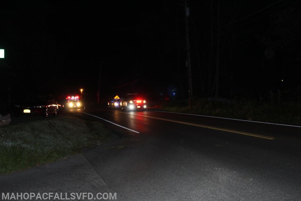 Mahopac Falls ambulance arrives on the scene