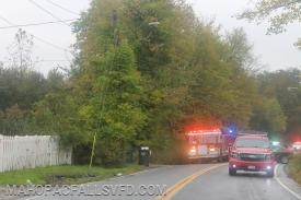With the 'all clear' given, Mahopac Falls units pick up & head back to quarters  as traffic resumes