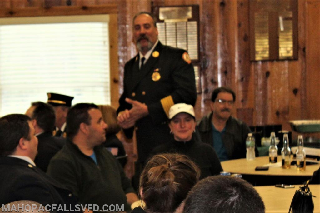 Commissioner County Car 1, Ken Clair addresses the group