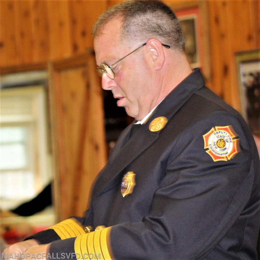 Batt. #16, George Wahlers shares the news that Mahopac Falls EMS has the best response in the county