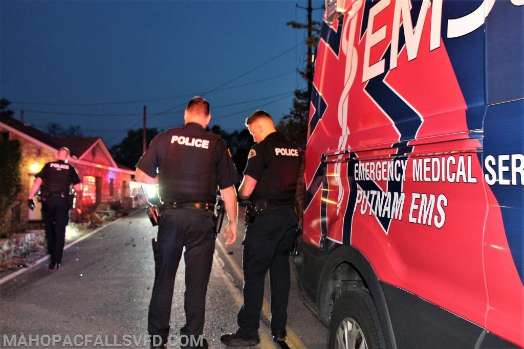 Carmel Police investigate the scene
